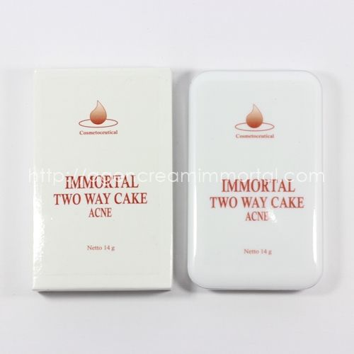 immortal two way cake acne natural agen cream immortal